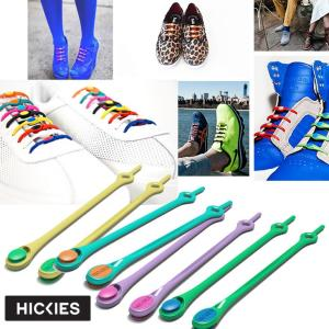 hickies ヒッキーズ 伸びる 靴ひも ゴム シューレース  14本入り NY トレンドアイテム メール便可|fleaboardshop