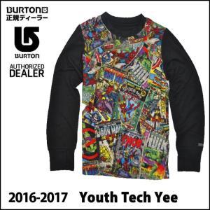 16-17 BURTON バートン スノー インナー Youth Tech Tee ユース キッズ KIDS 子供 5才-18 小中学生ロング Tシャツ|fleaboardshop