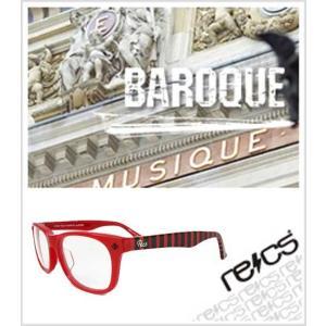 recs サングラス レックス / BAROQUE  / /recs-f30-04/ /RED/RED BORDER CLEAR LENS / グラサン sunglasses|fleaboardshop