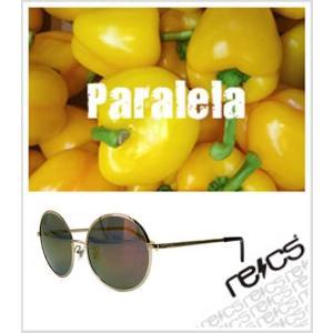 recs サングラス レックス 丸型 丸メガネ 丸レンズ 丸めがね recs-s60-03 Paralela YELLOWGOLD グラサン sunglasses 送料無料|fleaboardshop