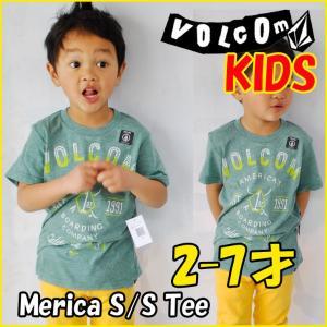 VOLCOM ボルコム キッズ ティ Merica S/S Tee Little Youth Kids tシャツ 3-7才向け半袖  ヴォルコム /メール便可/【返品種別SALE】|fleaboardshop