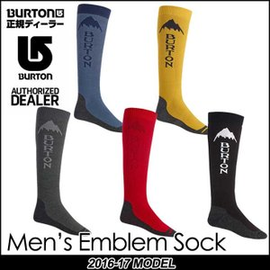 16-17 BURTON バートン MENS スノー ソックス  靴下 Emblem Sock メンズ  日本正規品 メール便不可【返品種別OUTLET】|fleaboardshop