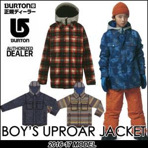 16-17 BURTON バートン KIDS SNOW WEAR 子供 キッズ スノー ウエアー ジャケット Boy's Uproar Jacket/7-15才/小中学生向け 【返品種別SALE】|fleaboardshop