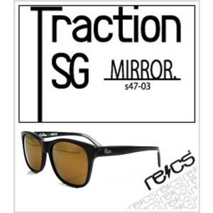 recs サングラス レックス /recs-s47-03G//Traction SG //BLACK GOLD mirror / グラサン sunglasses|fleaboardshop