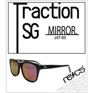 recs サングラス レックス 【recs-s47-03R】【Traction SG 】【BLACK (RED mirror) 】 グラサン sunglasses  ship1|fleaboardshop