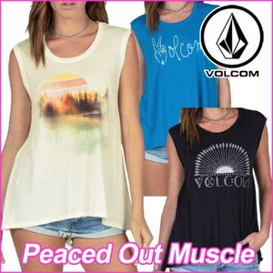 volcom ボルコム レディース  タンクトップ   Peaced Out Muscle ノースリーブ  /【返品種別OUTLET】 fleaboardshop