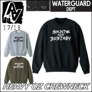 AA hardwear 17-18 ダブルエー ウエア トレーナー 撥水 HEAVY OZ CREW...