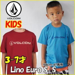 VOLCOM  ボルコム キッズ tシャツ  Lino Euro SS  Kids  tシャツ 3-7才向け(100110120130140 cm ) 半袖 ヴォルコム 【返品種別OUTLET】|fleaboardshop