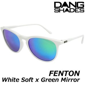 DANG サングラス ダンシェイディーズ FENTON White Soft x Green Mirror|fleaboardshop