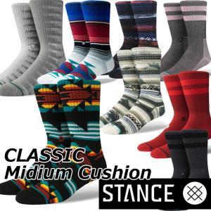 STANCE スタンス ソックス  カジュアル 【CLASSIC Mideum Cushion 】  クルー ふくらはぎ丈「メール便」|fleaboardshop