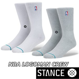 STANCE スタンス ソックス NBA カジュアル【NBA LOGOMAN CREW 】 combed cotton ふくらはぎ下丈 【メール便可】|fleaboardshop