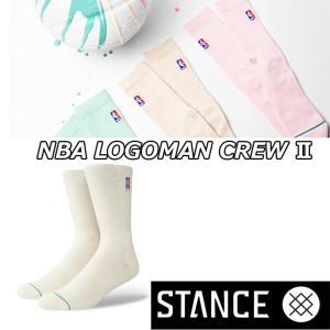 STANCE スタンス ソックス NBA カジュアル【NBA LOGOMAN CREW 2】 combed cotton ふくらはぎ下丈 【メール便可】|fleaboardshop