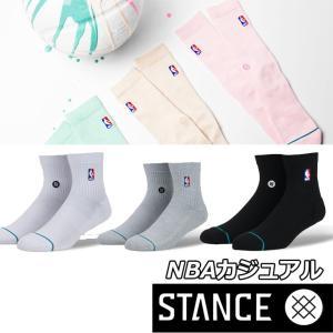 STANCE スタンス ソックス NBA カジュアル【NBA LOGOMAN QTR】 combed cotton ショート 【メール便可】|fleaboardshop