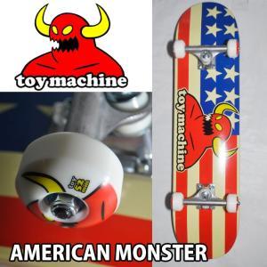 スケートボード コンプリート TOY MACHINE トイマシーン  AMERICAN MONSTER 7.75 スケボー COMPLETE fleaboardshop
