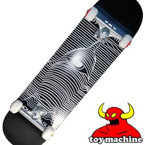 スケートボード コンプリート  TOY MACHINE トイマシーン  TOY DIVISION BLACK 【8.0x31.53】  トイディビジョンブラック  ship1 純正品|fleaboardshop