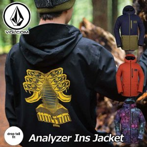 18-19 VOLCOM ボルコム メンズ ウェア スノー ボード ジャケット Analyzer Ins Jacket  G0451907 予約販売品