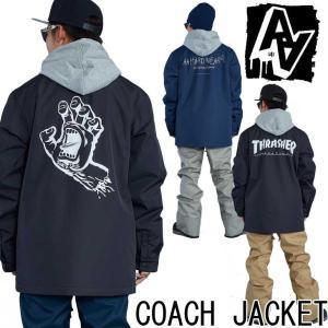 19-20 AA ダブルエー メンズ  ウェアー 【COACH JACKET 】コーチジャケット  スノーボード SNOW WEAR   ship1【返品種別OUTLET】 fleaboardshop