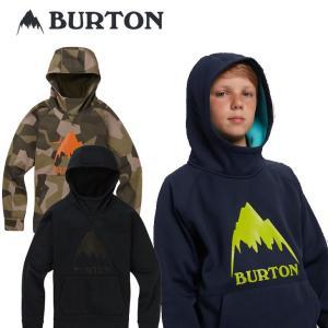 19-20 BURTON バートン キッズ 撥水 パーカー  Boys 【Burton Crown Bonded Pullover Hoodie 】(110/126/140/150/164) 日本正規品|fleaboardshop