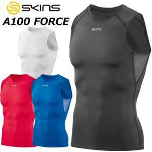 SKINS スキンズ メンズ スリーブレス  A100 FORCE メンズ スリーブレストップ ノースリーブ  DF01059001|fleaboardshop