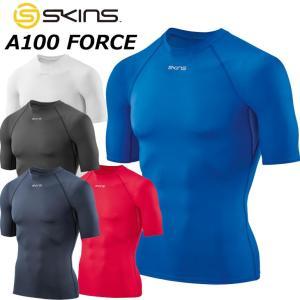SKINS スキンズ メンズ ショート スリーブ  A100 FORCE メンズ ショート スリーブトップ 半袖  DF01049001|fleaboardshop