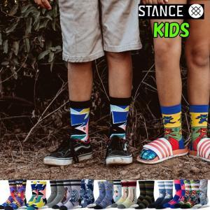 キッズ 靴下 男の子 女の子 STANCE スタンス ソックス  BOYS 【KIDS SOCKS】 クルー ふくらはぎ丈|fleaboardshop