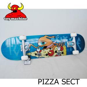 スケートボード コンプリート TOY MACHINE トイマシーン PIZZA SECT  ピザセクト ピッツァ  ship1 純正品|fleaboardshop