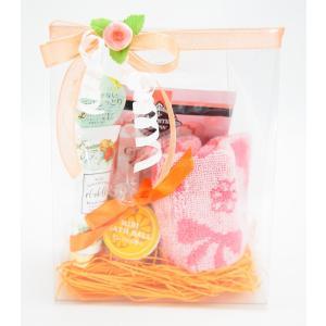 入浴剤 ギフトセット オレンジ ハンドタオル バスボール ハンドクリーム 女性 誕生日プレゼント お礼 お返し お祝い fleur-de-camelia2