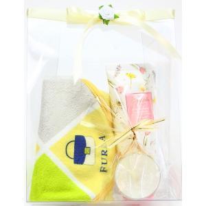 FURLA フルラ オリジナルギフトセット スマホクリーナー メガネ拭き ハンドクリーム キャンドル ギフト 女性 誕生日プレゼント お礼お返しお祝い fleur-de-camelia2