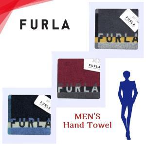 フルラ FURLA ハンカチ ハンドタオル ブロック+ロゴ柄 メンズ ブランド ギフト 紳士 男性 ...