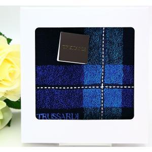 """【サイズ】約25cm×25cm  イタリアのファッションブランド""""トラサルディ""""のタオルハンカチです..."""