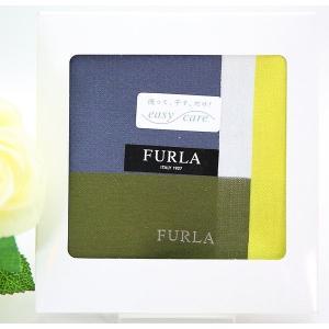 8fac122ab93d 父の日 フルラ FURLA ハンカチ ギフト バイカラー メンズ ブランド 綿大判 紳士 男性 誕生日 お礼 お返し お祝い