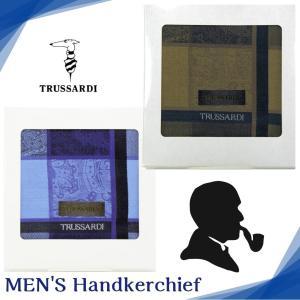 トラサルディ TRUSSARDI ハンカチ メンズ ブランド ギフト ベイズリー+ブロック 紳士 男...