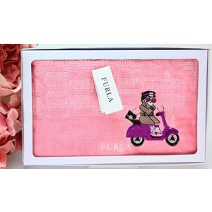 1af5b1e56977 フルラ FURLA タオルハンカチ 箱入 ブロック バイク テディベア ギフト 女性 誕生日プレゼント お礼お返しお祝い