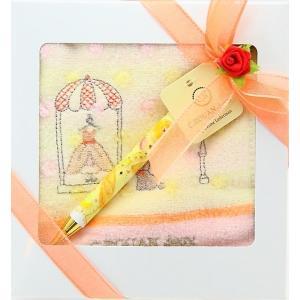 ハンカチ ハンドタオル ギフト セルーアン ドット たけいみきペン 女の子 誕生日 プレゼント 入学 卒業 就職 祝い メール便可|fleur-de-camelia2