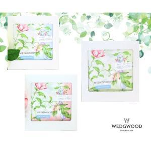 WEDGWOOD ウェッジウッド 花&木の実 ブランド ハンカチ ギフト レディース 綿 大判 箱入り 女性 誕生日プレゼント お礼 お祝 メール便可|fleur-de-camelia2