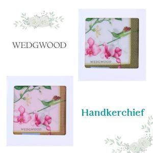 新商品 WEDGWOOD ウェッジウッド 胡蝶蘭 ハチドリ レディース ブランド ハンカチ ギフトボ...