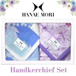 母の日 HANAE MORI ハナエモリ New ガーゼ ハンカチ ギフトセット 2枚組 レディース...