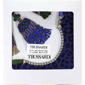 トラサルディ TRUSSARDI レディース ハンカチ ギフト ヒョウ柄タッセル イタリア ブランド 女性 誕生日プレゼント お礼 お返し お祝い メール便可|fleur-de-camelia2