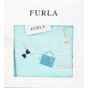 FURLA フルラ ロゴ箱入 タオルハンカチ ギフト バッグ&チャーム柄 女性 誕生日プレゼント お礼お返しお祝い|fleur-de-camelia2