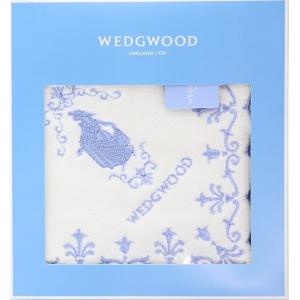 【サイズ】28cm×28cm  上品なウェッジウッドブルーのロゴ入りボックスに高級感あふれる刺繍入り...