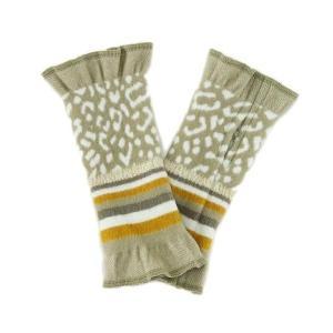フランス製 ハンドウォーマー 手袋 アニマルボーダー柄 冬 ファッション小物|fleur-de-camelia2