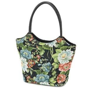 ゴブラン ミニ トートバッグ くり手手提げ 花柄 台形 レディース サブバッグ サイドバッグ ハンドバッグ メール便可|fleur-de-camelia2