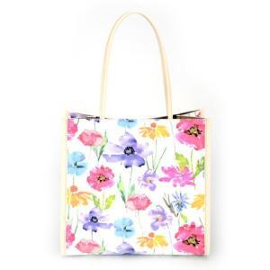 ミニトート ハンドバッグ 花柄 手提げ AMICA MODA ターブルフラワー サブバッグ レディース|fleur-de-camelia2