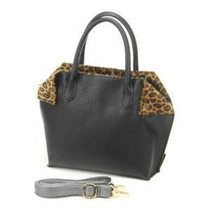 折り返しファー付合皮2wayハンドバッグ、ショルダーバッグ、レディースバッグ|fleur-de-camelia2