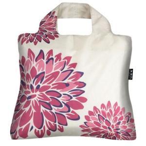 保冷 ENVIROSAX エンビロサックス エコバッグ 大花柄 折りたたみ 軽量 大容量 ショッピング 買い物 旅行 トラベル メール便可|fleur-de-camelia2