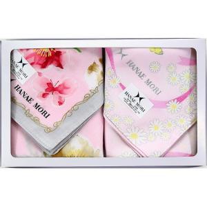 HANAE MORI ハナエモリ ハンカチ ギフトセット 2枚組 レディース ブランド 女性 誕生日プレゼント お礼 お返し お祝い