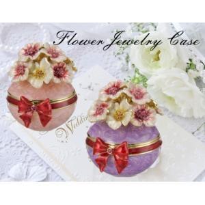 ジュエリーケース アクセサリー 小物入 ブーケ リボン 姫系雑貨 インテリア 女性 誕生日 プレゼント お礼 お返し お祝い|fleur-de-camelia2