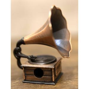 鉛筆削り アンティーク 蓄音機 置物 雑貨 インテリア小物 ギフト 誕生日プレゼント お礼 お返し お祝い|fleur-de-camelia2
