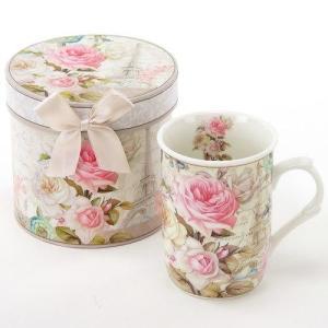 グレースマグ マグカップ ギフトボックス入り ピンクローズ 母の日 女性 誕生日 プレゼントお礼 お返し お祝い fleur-de-camelia2