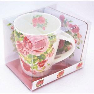マグカップ ティースプーン コースター レッドローズ 女性 誕生日プレゼント お礼 お返し お祝い fleur-de-camelia2
